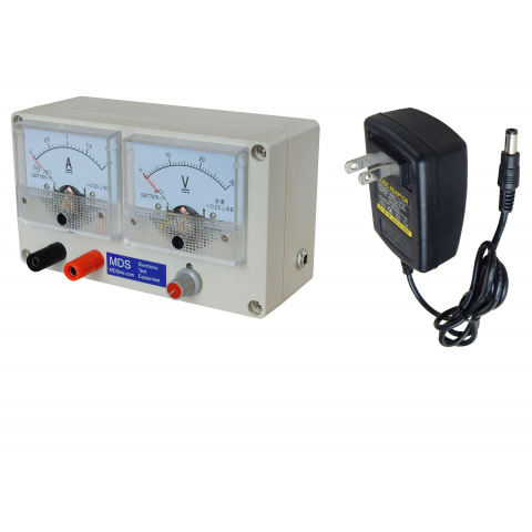 ADJUSTABLE POWER SUPPLY, ANALOG METERS