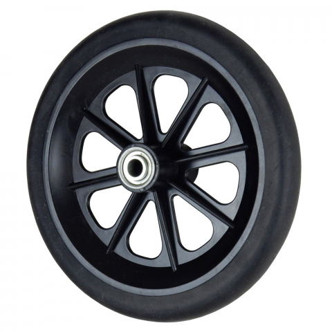 "8"" HARD RUBBER WHEEL W/ BEARINGS"