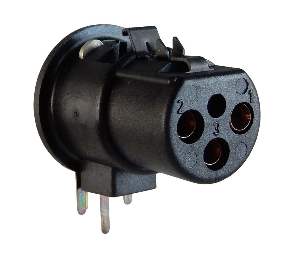 RIGHT-ANGLE, PC-MOUNT XLR CONNECTOR