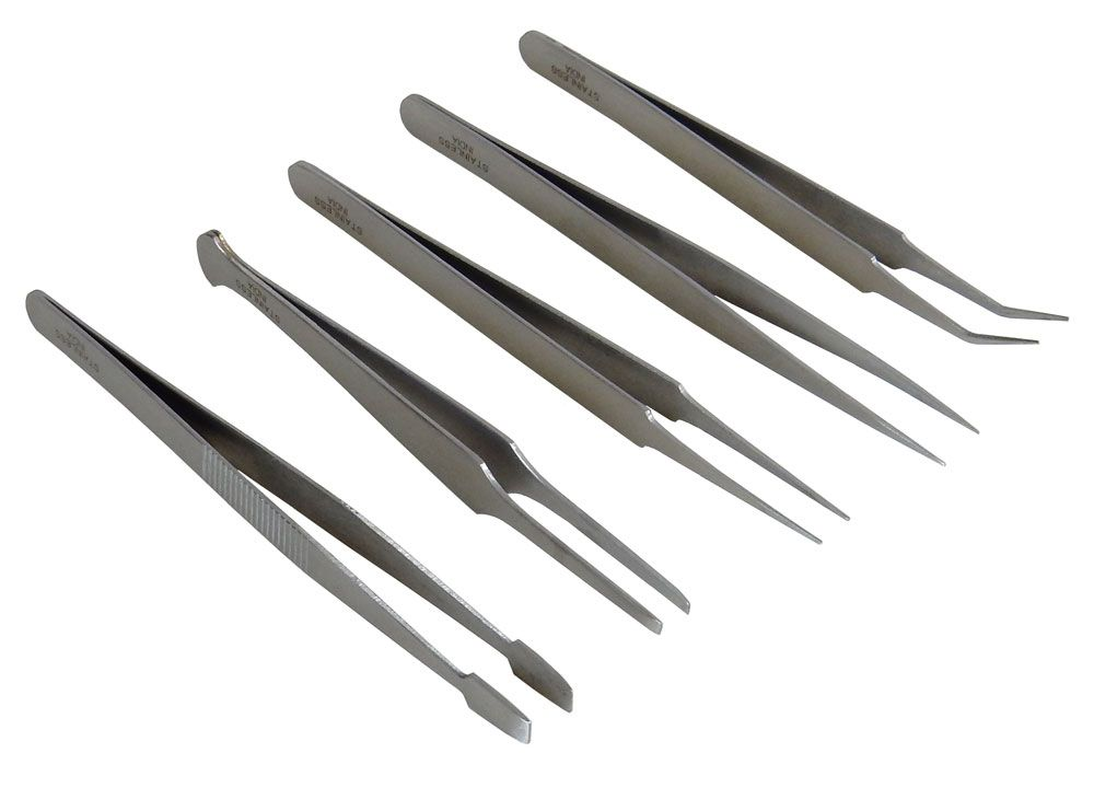 5 PIECE TWEEZER SET