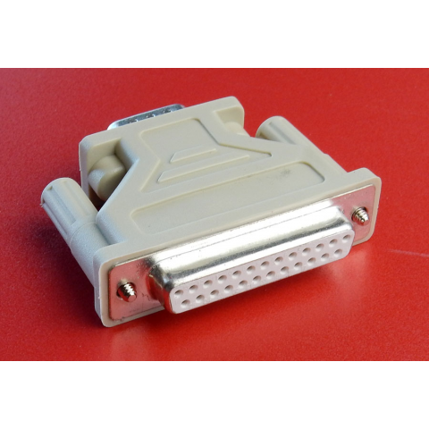 D-SUB ADAPTOR, 9 TO 25 CONTACT
