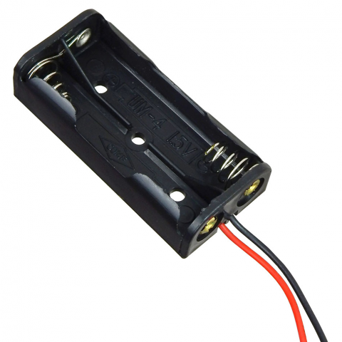 BATTERY HOLDER, 2 AAA CELLS