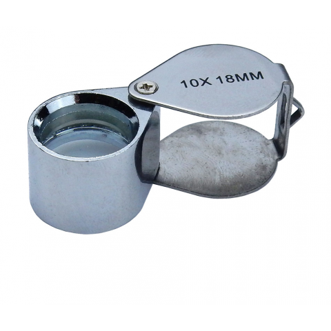 JEWELER'S LOUPE, CHROME PLATED, 10X 18MM