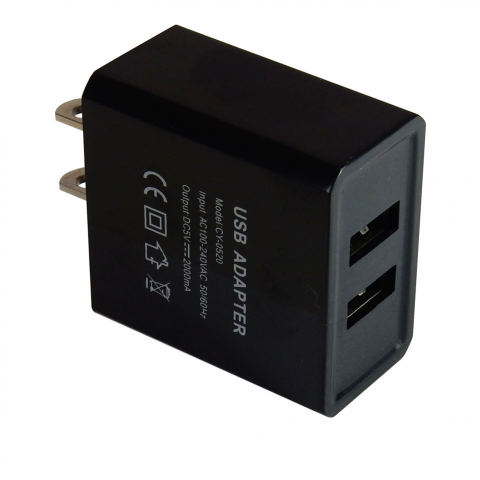 DUAL USB WALL CHARGER, 2A