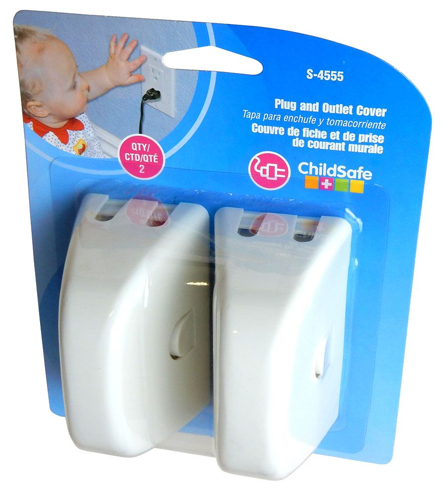 CHILD-SAFE OUTLET COVER, 2-PACK
