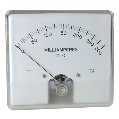 "4.5"" 300MA DC PANEL METER"