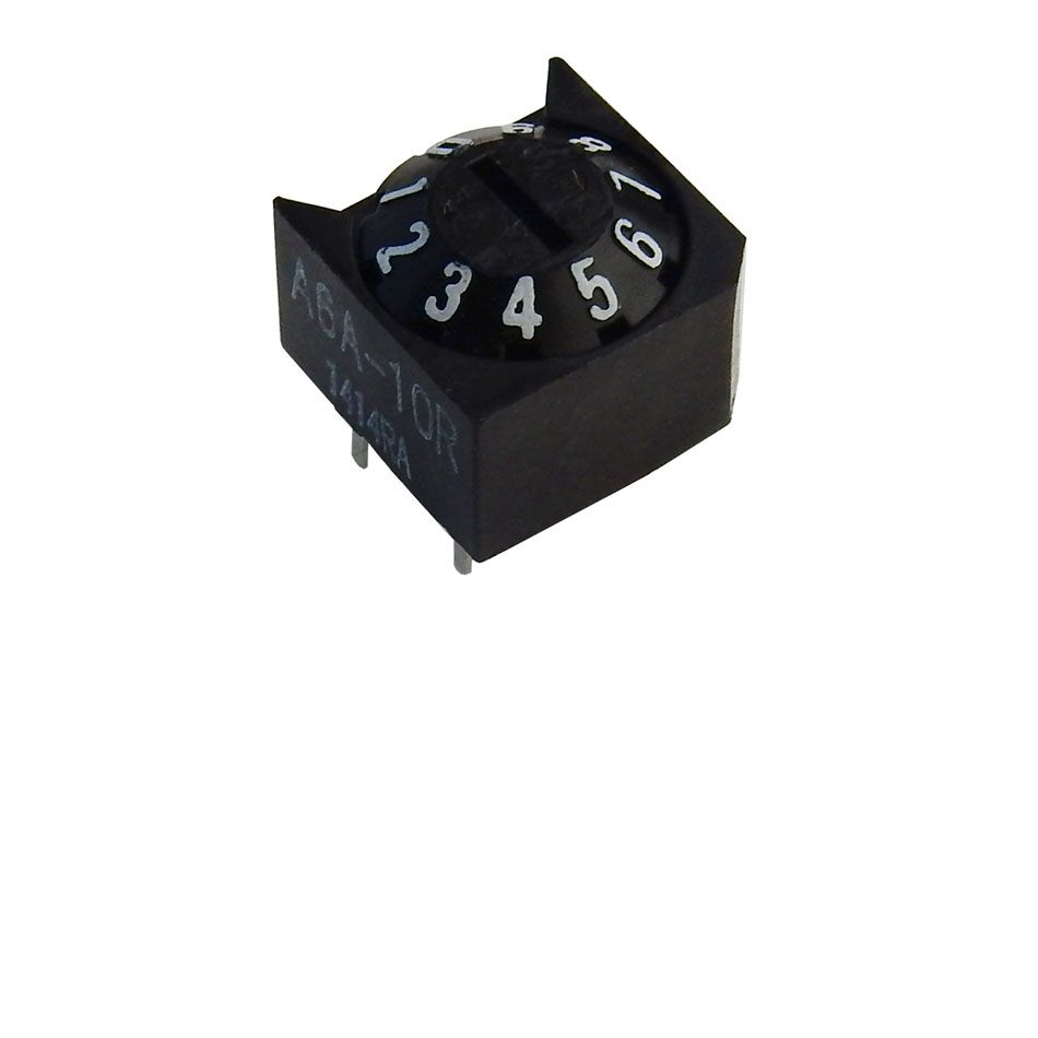 10-POSITION BCD ROTARY SWITCH, CONE TYPE