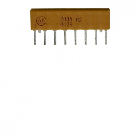 SIP RESISTOR NETWORK, 1K, BUSSED