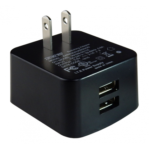 DUAL USB WALL CHARGER, 2.1A