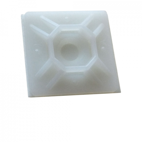 "1"" SQUARE ADHESIVE-BACKED TIE MOUNT"