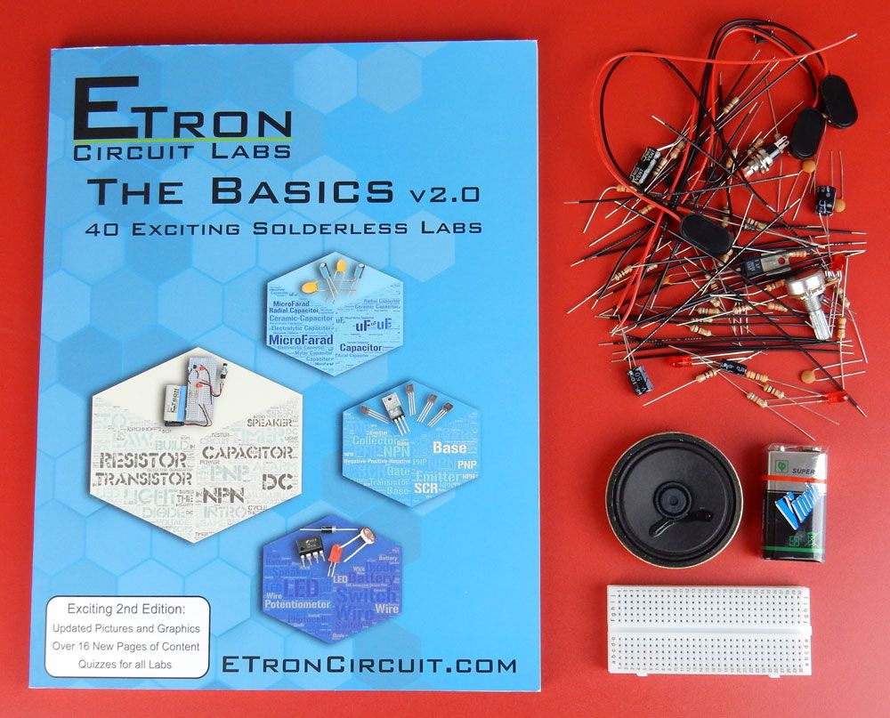 40 EDUCATIONAL ELECTRONIC PROJECTS, BOOK & PARTS KIT