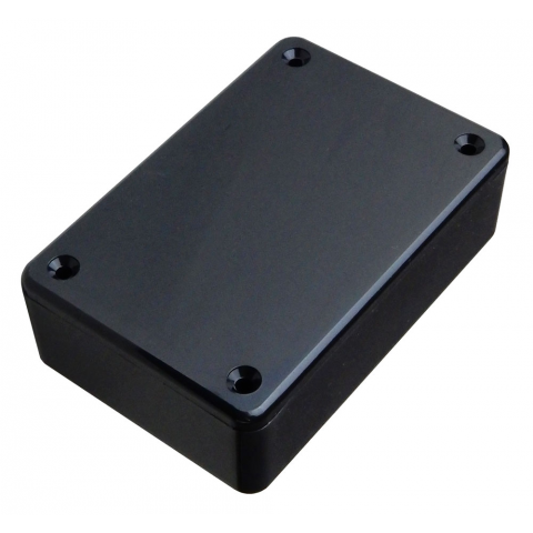 "BLACK PLASTIC CASE, 3.3"" X 2.2"" X 1.04"""