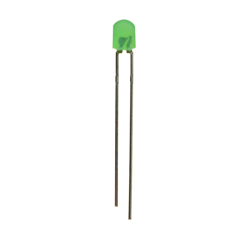 "4MM GREEN ""TOMBSTONE"" LED"