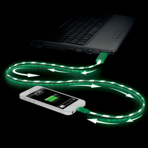 ELECTROLUMINESCENT CHARGE & SYNC CABLE FOR APPLE