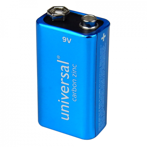 9 VOLT BATTERY, HEAVY-DUTY CARBON ZINC