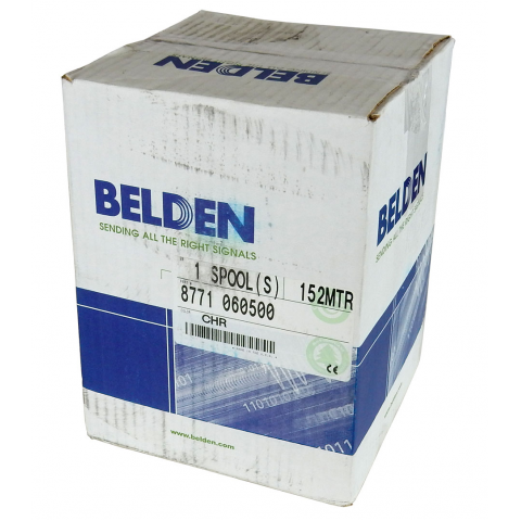 BELDEN 3-CONDUCTOR AWG22 W/ FOIL SHIELD, 500' ROLL