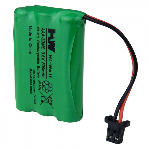 RECHARGEABLE BATTERY PACK FOR CORDLESS PHONES, 3AAA CELLS