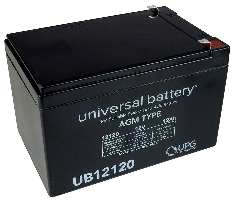 12 VOLT 12 AH RECHARGEABLE BATTERY