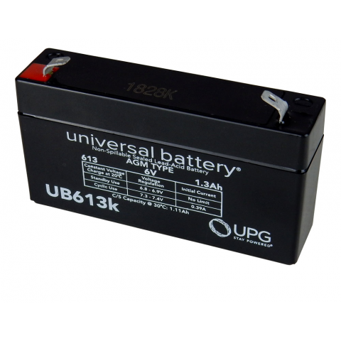 6 VOLT, 1.2 AH BATTERY