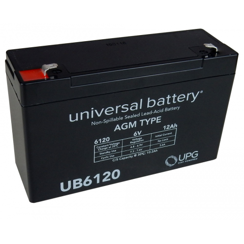 6 VOLT 12 AH LEAD ACID BATTERY