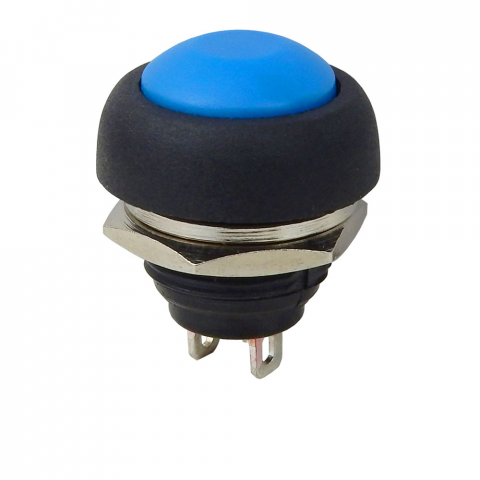 SPST N.O. PUSHBUTTON, BLUE