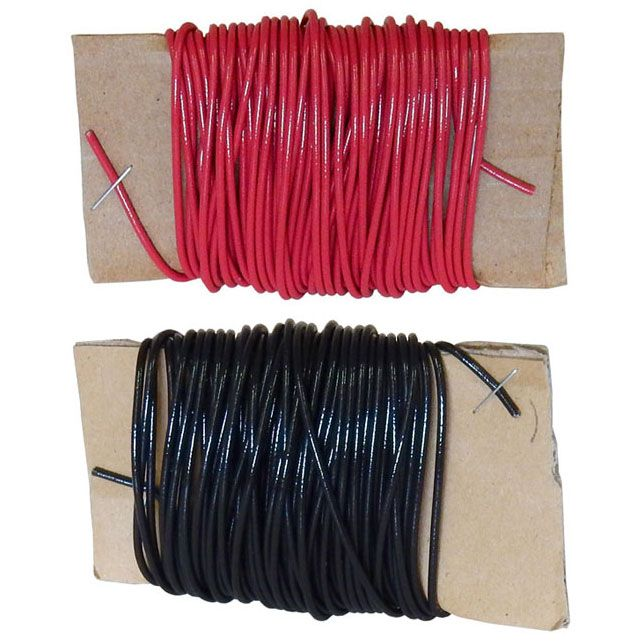 RED AND BLACK HOOK-UP WIRE / 2 X 25'