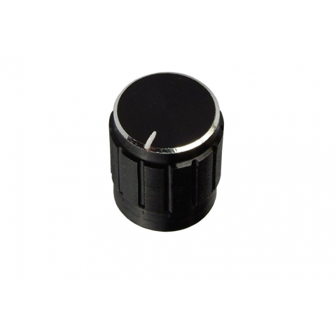ALUMINUM POINTER KNOB FOR 6MM KNURLED SHAFT