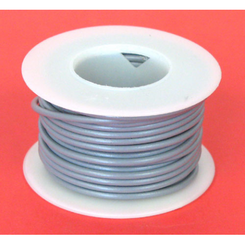 18 GA. GREY HOOK-UP WIRE, STRANDED 25'