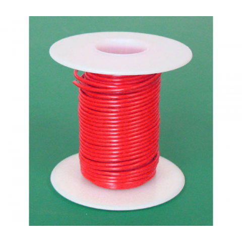 18 GA. RED HOOK-UP WIRE, SOLID 25'