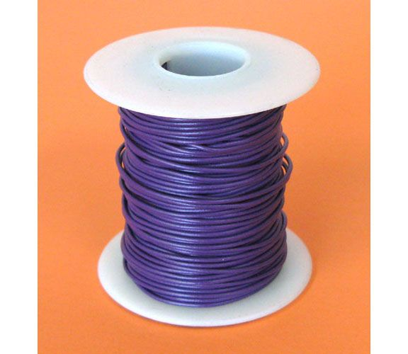24 GA PURPLE HOOK-UP WIRE, STRANDED, 100'