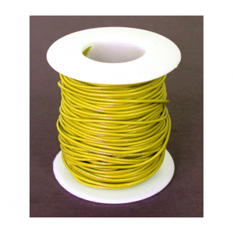 22 GA YELLOW HOOK-UP WIRE, SOLID 100'