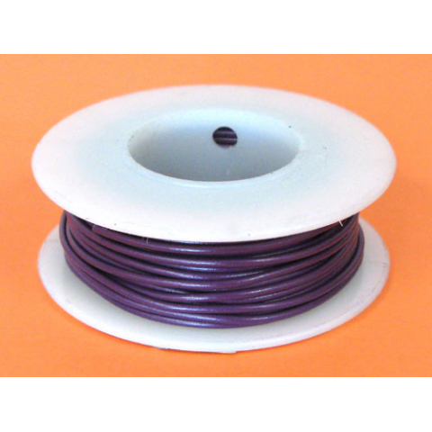 26 GA. PURPLE HOOK-UP WIRE, STRANDED 25'