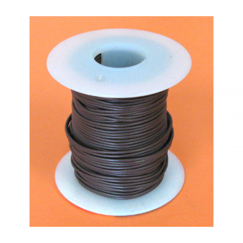 22 GA BROWN HOOK-UP WIRE, SOLID 100'