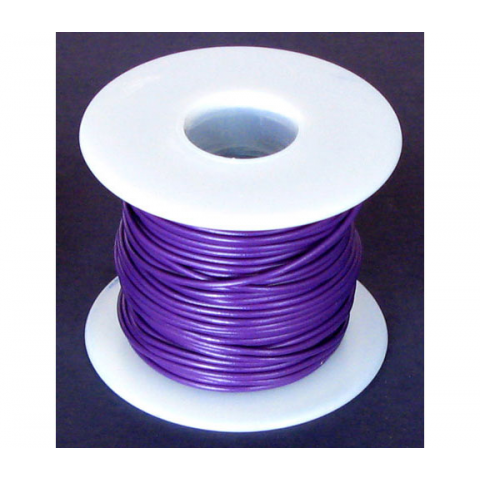 20 GA. PURPLE HOOK-UP WIRE, STRANDED 100'