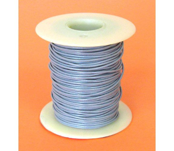 26 GA. GREY HOOK-UP WIRE, STRANDED, 100'
