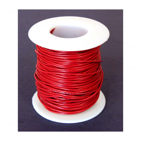 26 GA. RED HOOK-UP WIRE, STRANDED 100'