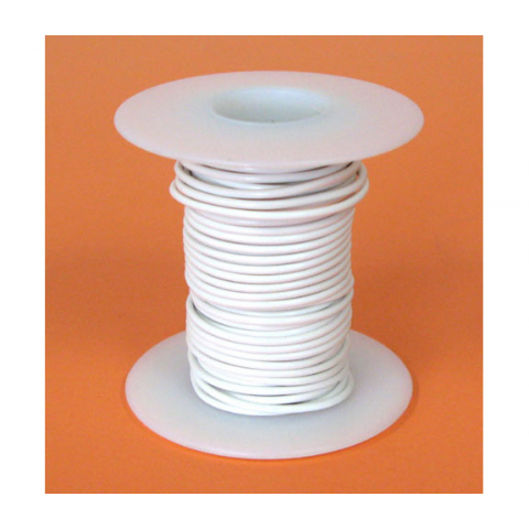 20 GA. WHITE HOOK-UP WIRE, SOLID 25'