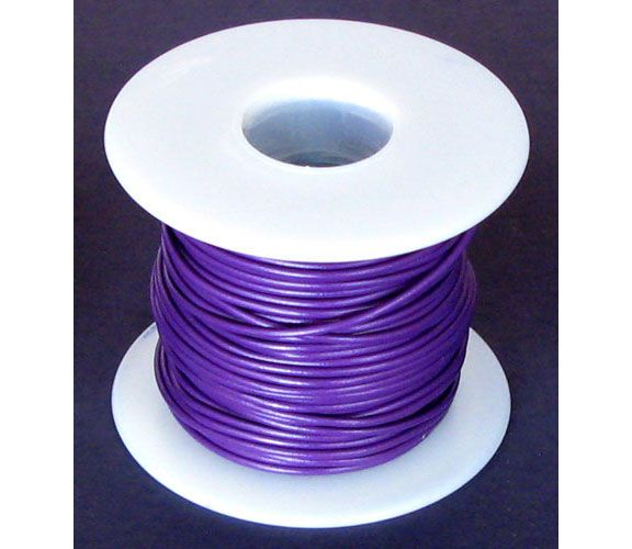 18 GA. PURPLE HOOK-UP WIRE, SOLID 100'