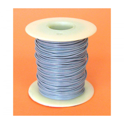 24 GA GRAY HOOK-UP WIRE, STRANDED, 100'