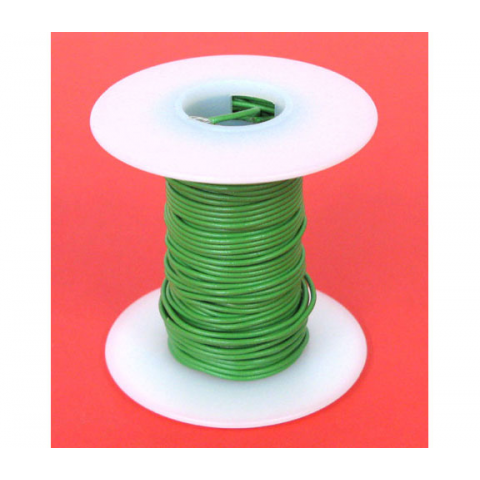 22 GA. GREEN HOOK-UP WIRE, SOLID 25'
