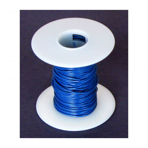 18 GA. BLUE HOOK-UP WIRE, SOLID 25'