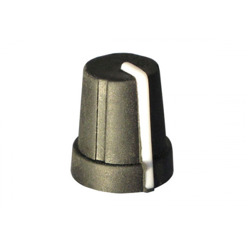 RUBBERIZED POINTER KNOB FOR 6MM KNURLED SHAFT