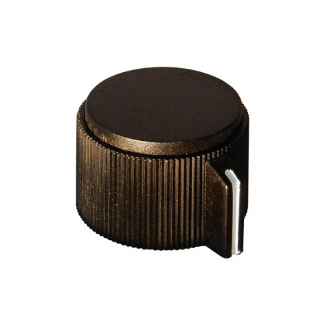 POINTER KNOB FOR 6MM SHAFT, 25MM DIAMETER