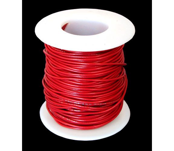 24 GA. RED HOOK-UP WIRE, STRANDED 100'