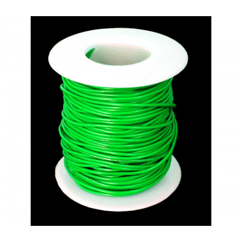 24 GA. GREEN HOOK-UP WIRE, STRANDED 100'