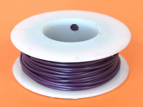24 GA. PURPLE HOOK-UP WIRE, SOLID 25'