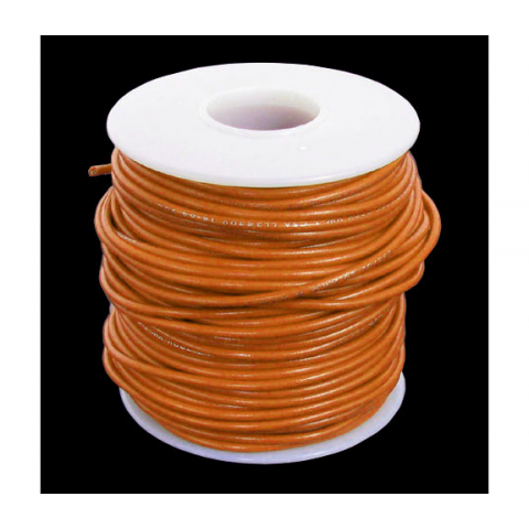 20 GA ORANGE HOOK-UP WIRE, SOLID 100'