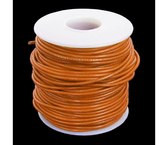 20 GA. ORANGE HOOK-UP WIRE, STRANDED 100'