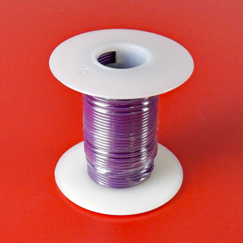 20 GA. PURPLE HOOK-UP WIRE, STRANDED 25'