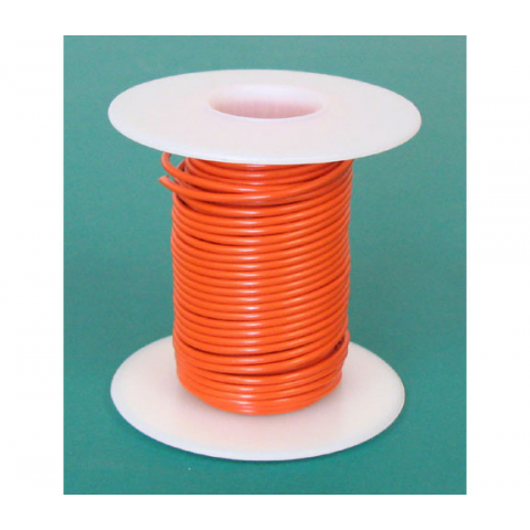 18 GA ORANGE HOOK UP WIRE, STR 25'